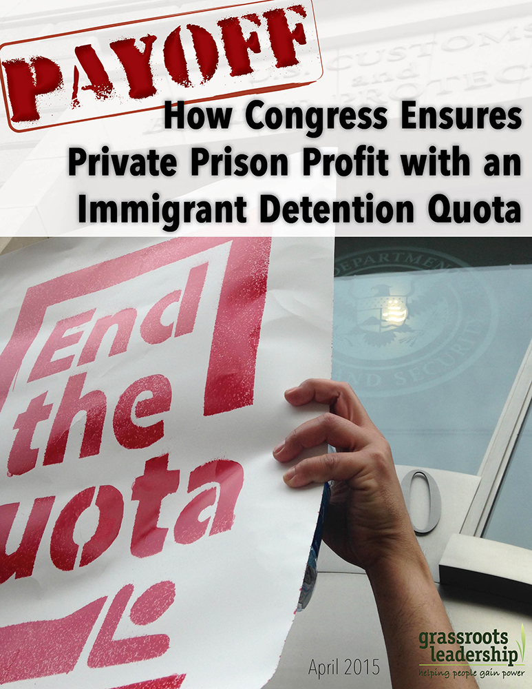 Payoff Immigrant Detention Quota report, April 2015